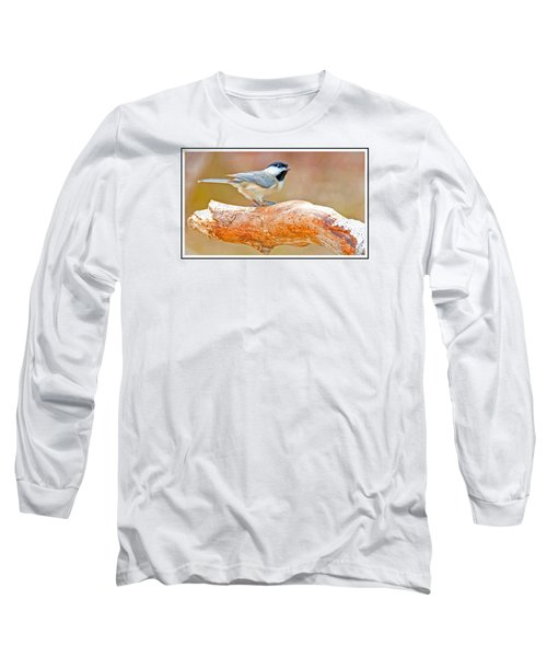 Long Sleeve T-Shirt featuring the photograph Carolina Chickadee On Tree Limb by A Gurmankin