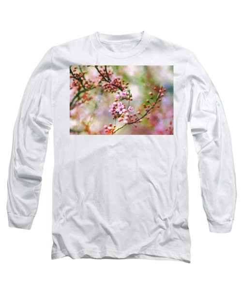 Long Sleeve T-Shirt featuring the photograph Cherry Blossoms In Spring by Peggy Collins