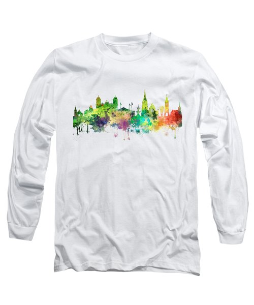 Christchurch Nz Skyline Long Sleeve T-Shirt