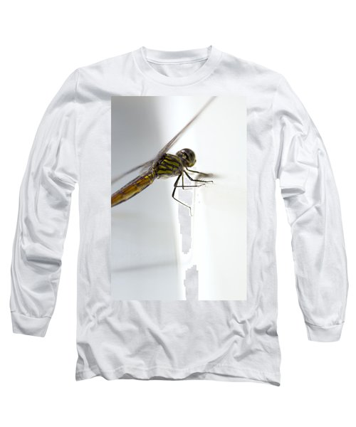 Close Up Shoot Of A Anisoptera Dragonfly Long Sleeve T-Shirt by Ulrich Schade