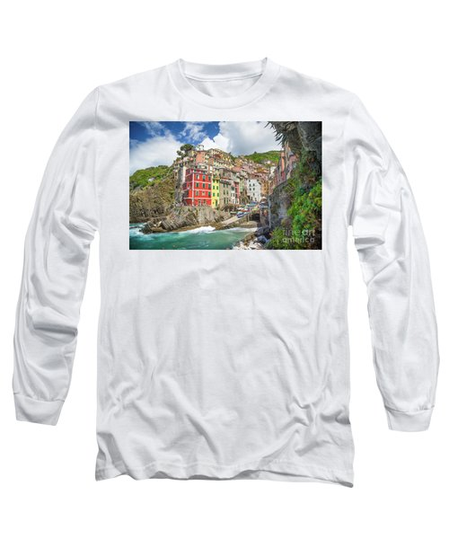Colors Of Cinque Terre Long Sleeve T-Shirt by JR Photography
