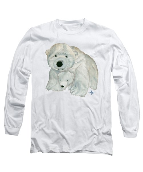 Cuddly Polar Bear Long Sleeve T-Shirt