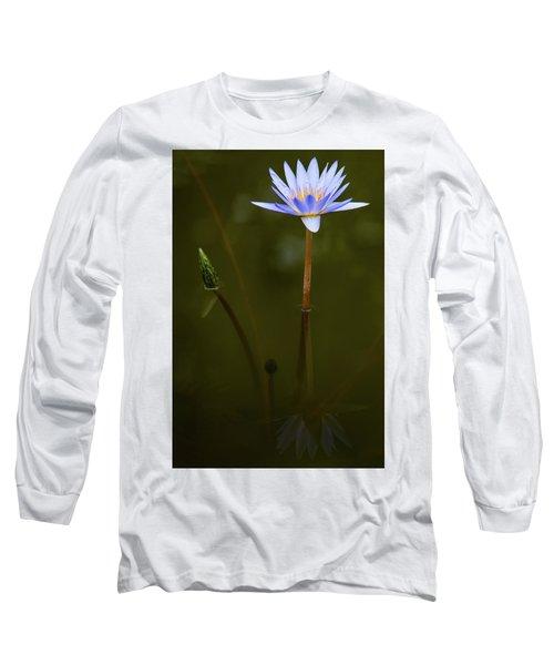 Deep Lily Reflection Long Sleeve T-Shirt