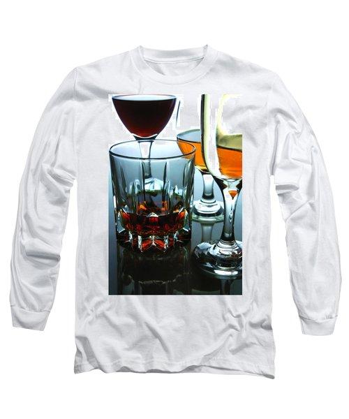 Drinks Long Sleeve T-Shirt by Jun Pinzon