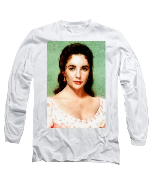 Elizabeth Taylor Hollywood Actress Long Sleeve T-Shirt