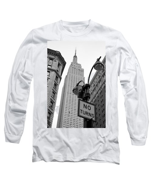 Empire State Building Long Sleeve T-Shirt by Michael Dorn