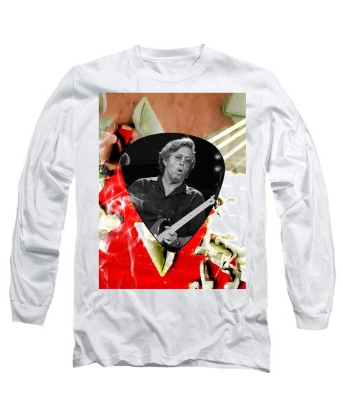 Eric Clapton Art Long Sleeve T-Shirt by Marvin Blaine