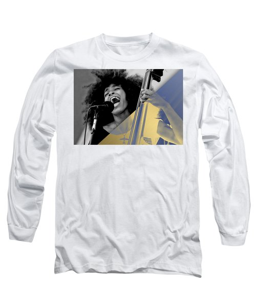 Esperanza Spalding Collection Long Sleeve T-Shirt by Marvin Blaine