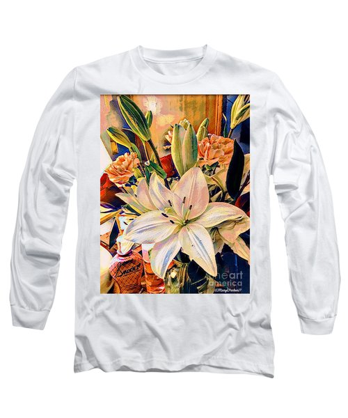 Flowers For You Long Sleeve T-Shirt by MaryLee Parker
