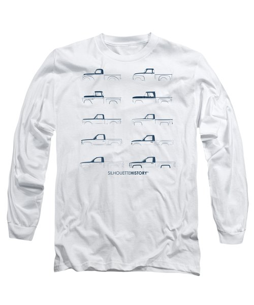 Fullsize Pickup Silhouettehistory Long Sleeve T-Shirt by Balazs Iker