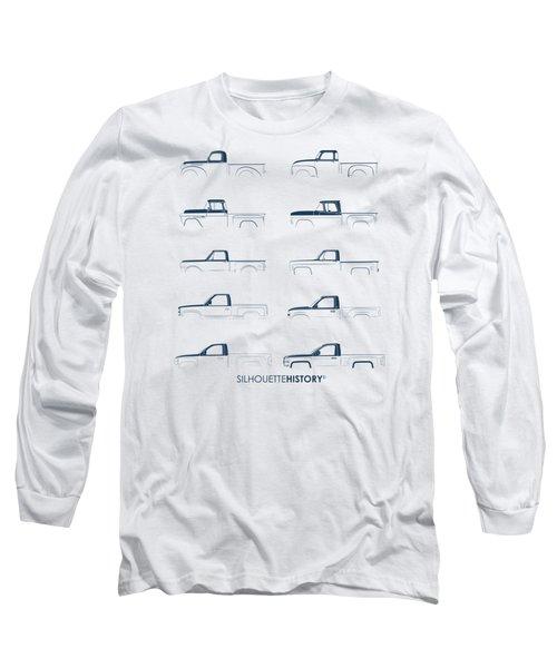 Fullsize Pickup Silhouettehistory Long Sleeve T-Shirt