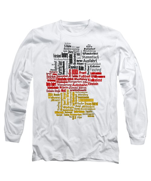 Germany Map Long Sleeve T-Shirt