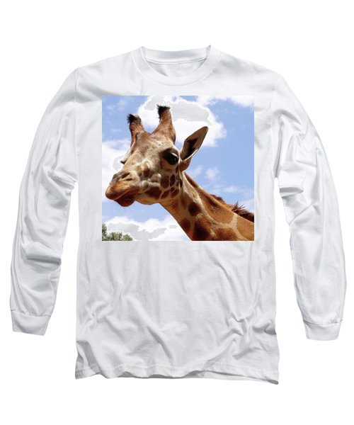 Giraffe Getting Personal 6 Long Sleeve T-Shirt