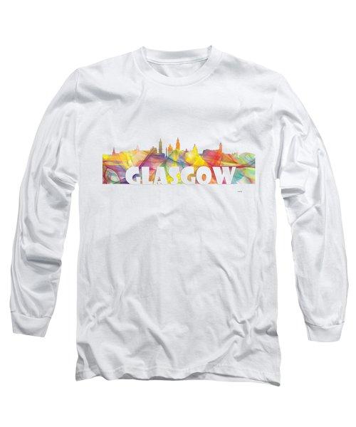Glasgow Scotland Skyline Long Sleeve T-Shirt