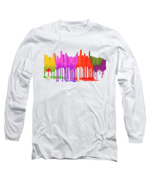 Gold Coast Australia Skyline  Long Sleeve T-Shirt