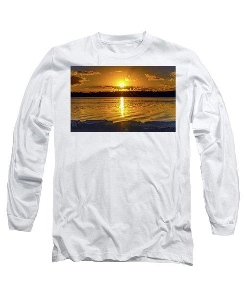 Golden Sunrise Waterscape Long Sleeve T-Shirt