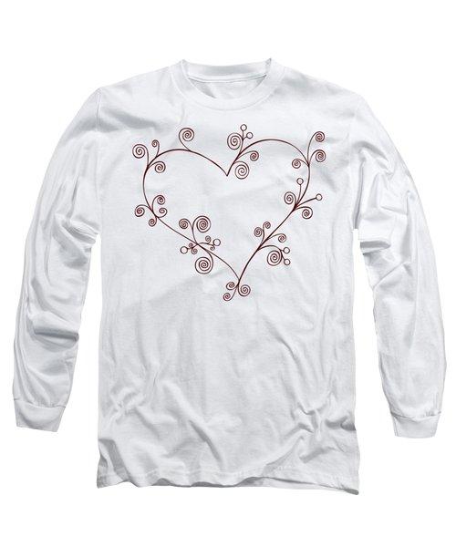 Heart Long Sleeve T-Shirt by Frank Tschakert