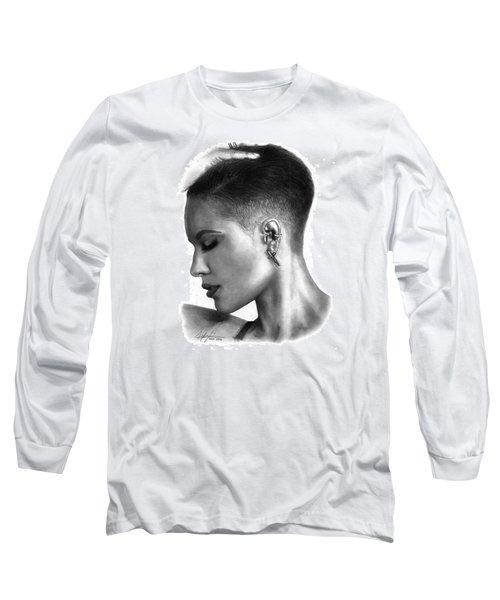 Halsey Drawing By Sofia Furniel Long Sleeve T-Shirt