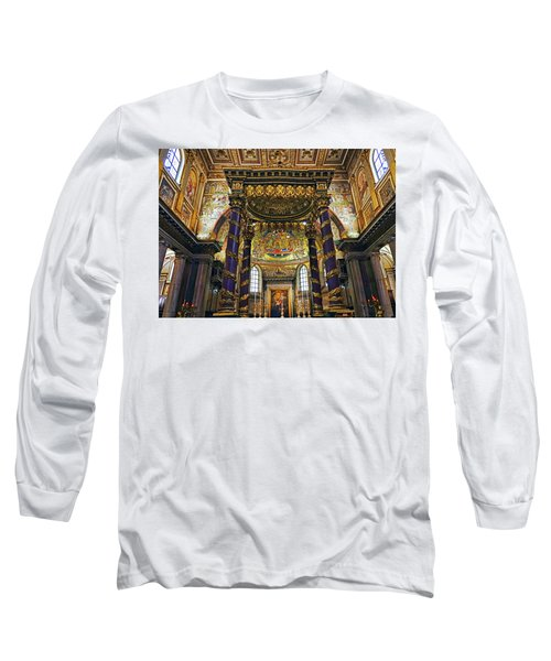 Interior View Of The Basilica Di Santa Maria Maggiore In Rome Italy Long Sleeve T-Shirt