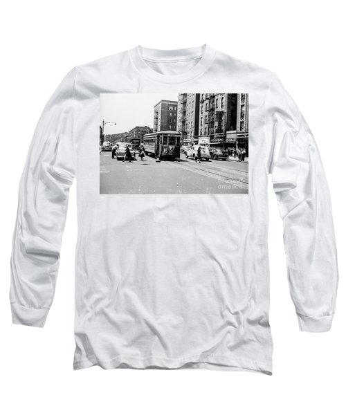 Long Sleeve T-Shirt featuring the photograph Inwood Trolley  by Cole Thompson