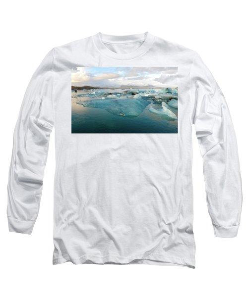 Jokulsarlon The Glacier Lagoon, Iceland 2 Long Sleeve T-Shirt