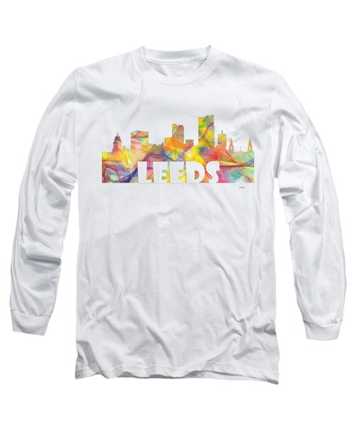 Leeds England Skyline Long Sleeve T-Shirt