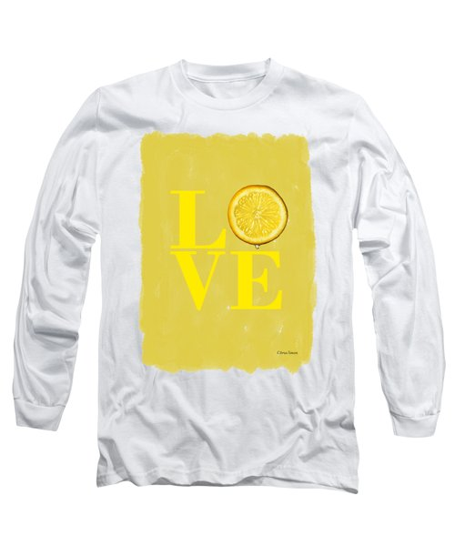 Lemon Long Sleeve T-Shirt by Mark Rogan