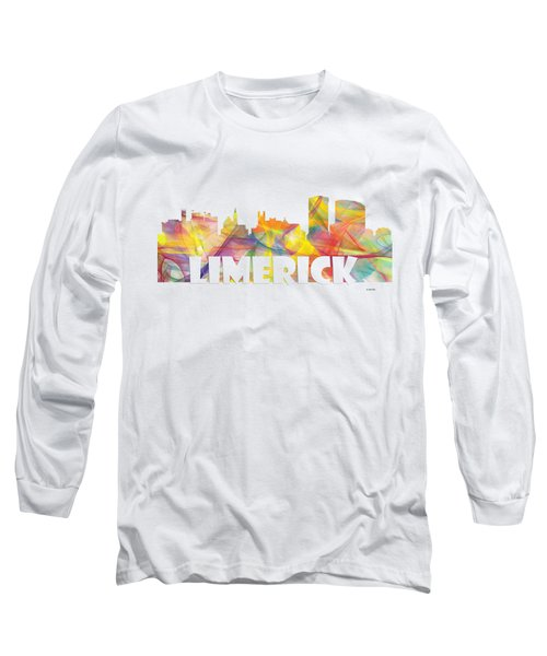 Limerick Ireland Skyline Long Sleeve T-Shirt