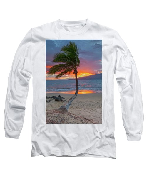 Lonely Palm Long Sleeve T-Shirt by James Roemmling