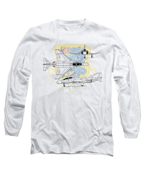 Mcdonnell Douglas F-4d Phantom II Long Sleeve T-Shirt