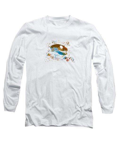 Meerkat Skull Long Sleeve T-Shirt by Mordax Furittus