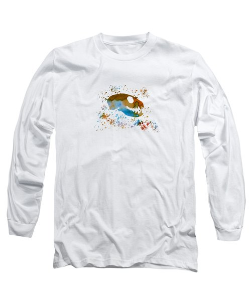 Meerkat Skull Long Sleeve T-Shirt