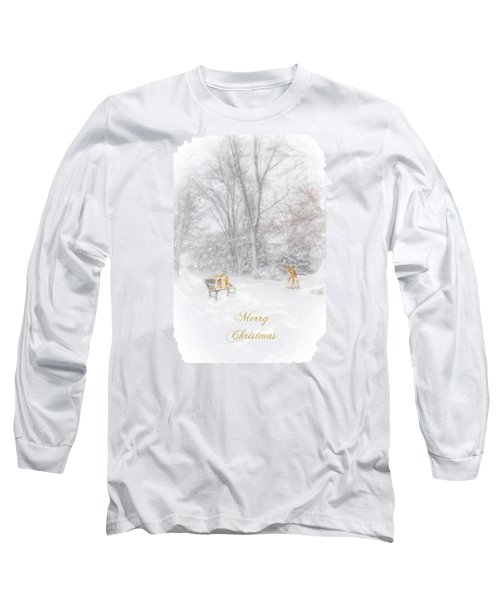 Merry Christmas Long Sleeve T-Shirt by Mary Timman