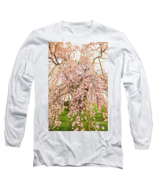 Long Sleeve T-Shirt featuring the photograph Miharu Takizakura Weeping Cherry03 by Tatsuya Atarashi