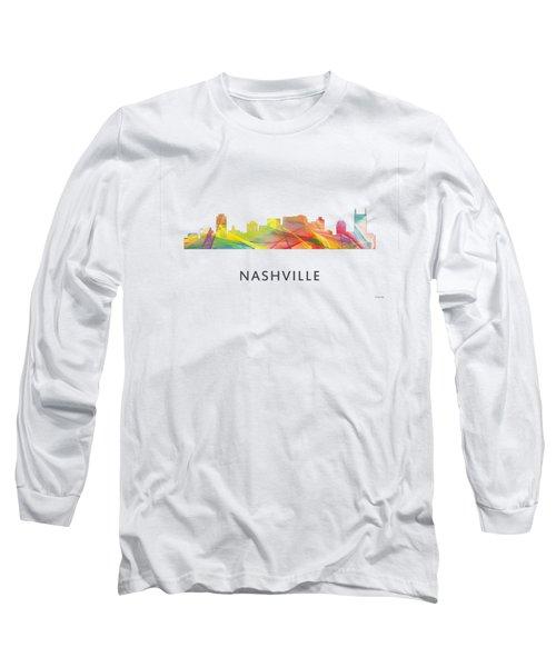 Nashville Tennessee Skyline Long Sleeve T-Shirt by Marlene Watson
