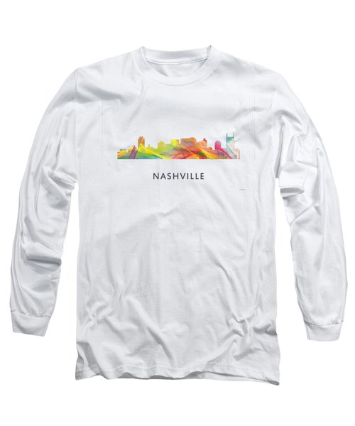 Nashville Tennessee Skyline Long Sleeve T-Shirt