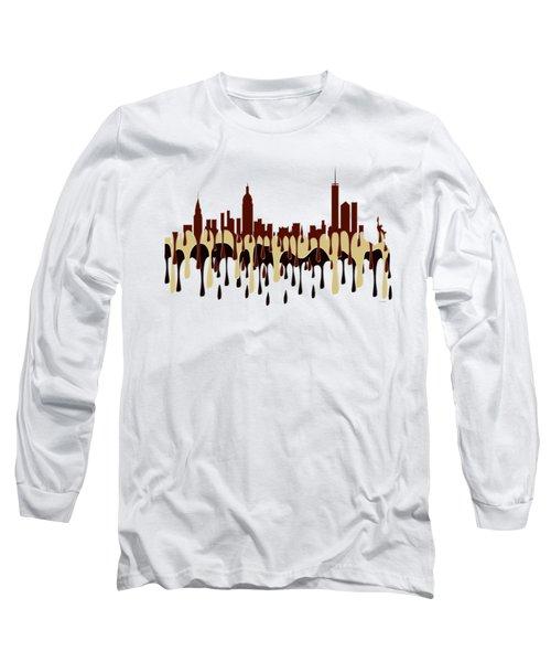 New York Ny Skyline Long Sleeve T-Shirt