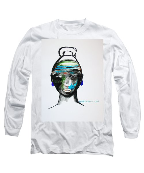 Nuer Bride - South Sudan Long Sleeve T-Shirt