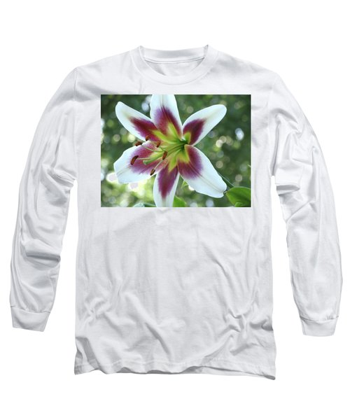 Oriental Lily Long Sleeve T-Shirt by Rebecca Overton