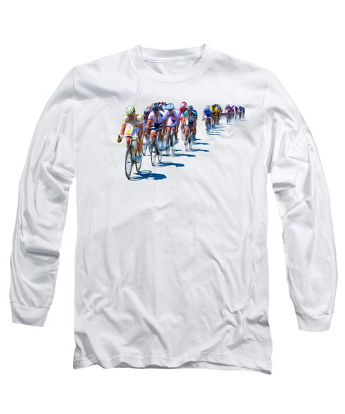 Long Sleeve T-Shirt featuring the photograph Philadelphia Bike Race by Bill Cannon