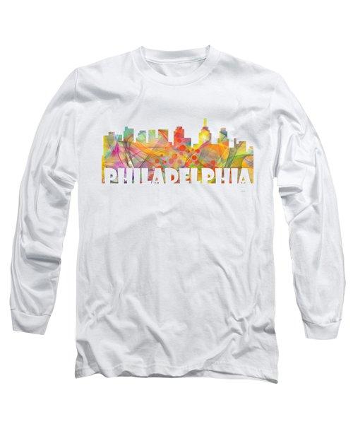 Philadelphia Pennsylvania Skyline Long Sleeve T-Shirt