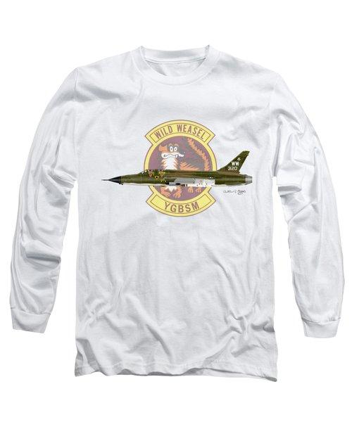Republic F-105g Thunderchief 561tfs Long Sleeve T-Shirt by Arthur Eggers