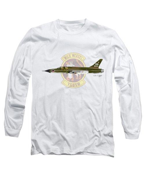 Republic F-105g Wild Weasel Long Sleeve T-Shirt by Arthur Eggers