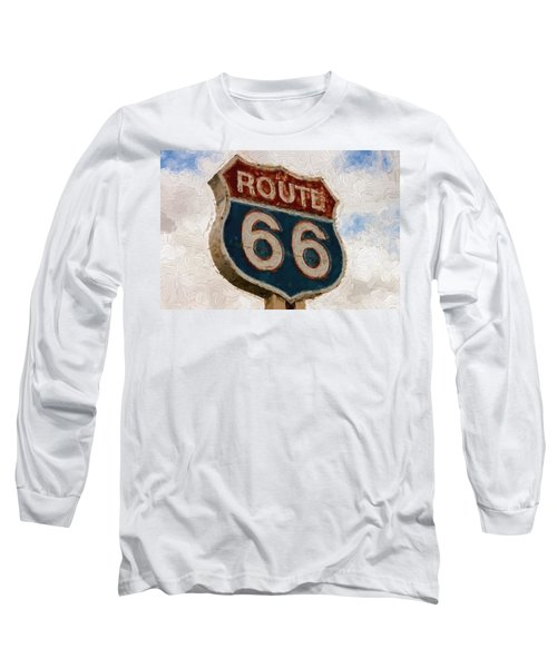Route 66  Long Sleeve T-Shirt by Louis Ferreira