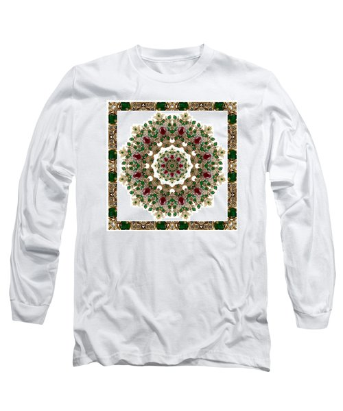Ruby And Emerald Kaleidoscope Long Sleeve T-Shirt