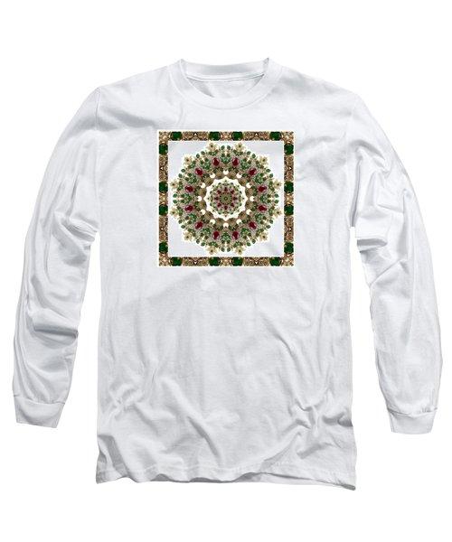 Ruby And Emerald Kaleidoscope Long Sleeve T-Shirt