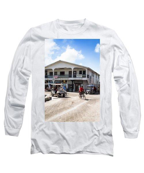 Street Scene Of San Pedro Long Sleeve T-Shirt