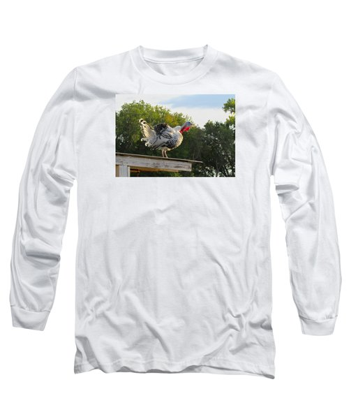 Long Sleeve T-Shirt featuring the photograph Gobble Gobble by Brenda Pressnall