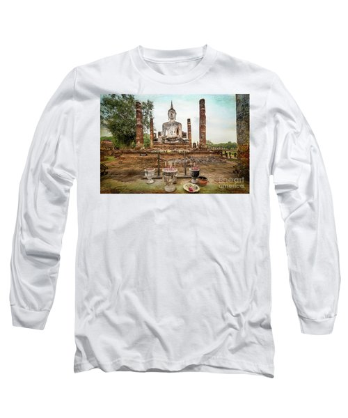 Long Sleeve T-Shirt featuring the photograph Sukhothai Buddha by Adrian Evans
