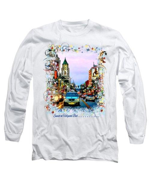 Sunset On Hollywood Blvd Long Sleeve T-Shirt